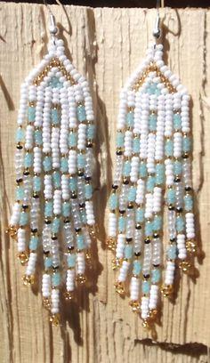 Hand beaded earrings made in the Yukon Canada.