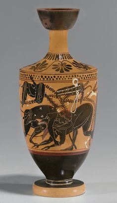 AN ATTIC BLACK-FIGURED LEKYTHOS ATTRIBUTED TO THE DAYBREAK PAINTER, CIRCA 520 B.C. | Christie's