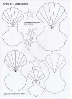 Fold-over seashells – fun as cards or gift tags. These seashell notecards are… Fold-over seashells – fun as cards or gift tags. These seashell notecards are fun and easy to make. You can use them as bon voyage card… Little Mermaid Birthday, Little Mermaid Parties, The Little Mermaid, Mermaid Party Invitations, Diy Invitations, Mermaid Birthday Invites, Mermaid Crafts, Mermaid Diy, Bon Voyage Cards