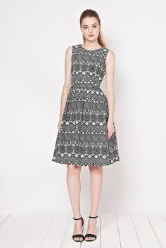 Corleone Lace Print Dress