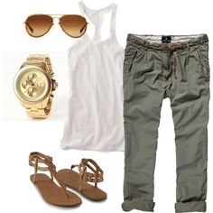 A fashion look from January 2012 featuring Victoria's Secret tops, Scotch & Soda pants and Forever 21 sandals. Browse and shop related looks.