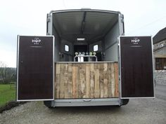 By popular demand in the UK: a horse trailer converted into a traveling pub.