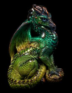 "Windstone Editions ""Betta Fish 1"" Male Dragon Figurine Fantasy Statue | eBay #dragon #ooakpaintjob #figurine"