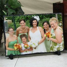 Picture Perfect Wedding Party Photo Stone Keepsake | Wedding Party Stone Keepsake. #bridesmaidgifts #personalizedgifts #photogifts