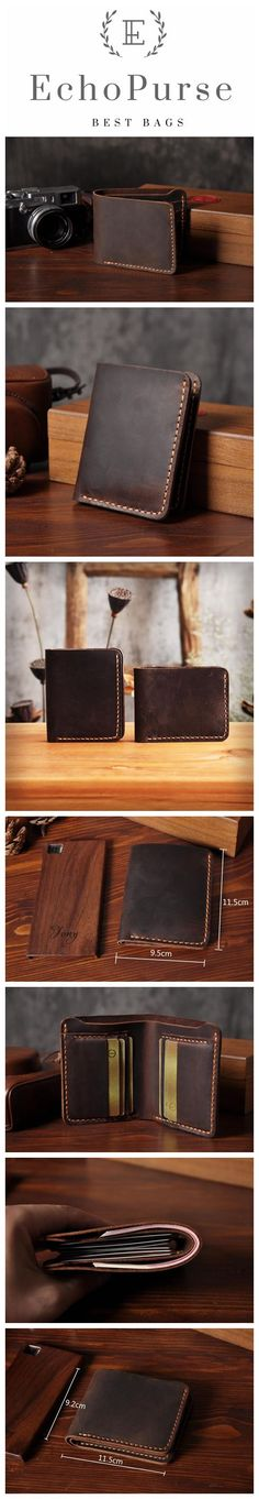 Handmade Distressed Leather Travel Wallet, Bifold Wallet, Mens Wallet MT1906