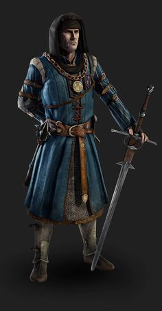 m Rogue Thief (Cleric Disguise) Sword Mace medalion hood Pixologic ZBrush Gallery: The Witcher 2 Assasins of Kings models The Witcher Wild Hunt, The Witcher Game, Character Portraits, Character Art, Character Design, 3d Fantasy, Fantasy Armor, Medieval Armor, Medieval Fantasy