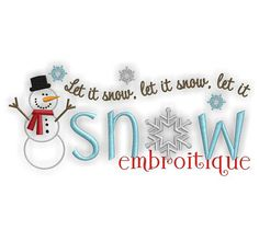 Let it Snow Snowman Winter Holiday Design