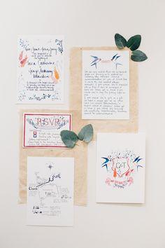 #hochzeitspapeterie #einladungskarte Kalligraphie Hochzeitspapeterie - Eine elegante Vintage Hochzeit | Hochzeitsblog - The Little Wedding Corner