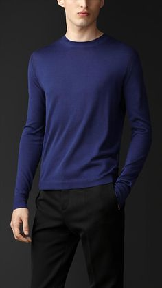 Simple can be elegant.  Burberry Shoulder Detail Silk Sweater
