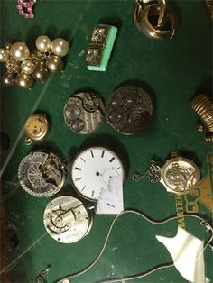 $5 up : watch prts Antique Shops, Personalized Items, Watch, Antiques, Antiquities, Antique Stores, Clock, Antique