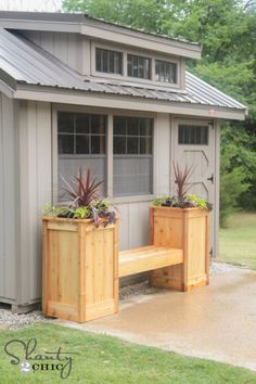 DIY Planter Box – When you wish to include decorative plants to your household, diy planter boxes can be utilized properly for that function. Diy Planter Box, Diy Planters, Garden Planters, Planter Bench, Herb Garden, Indoor Garden, Diy Bench, Outdoor Planters, Bench Seat
