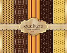 Golden Papers - Digital Paper Pack Digital Paper Scrapbook Paper Digital Collage Sheet Golden Background Gold
