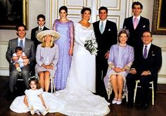 Princess Alexia and Carlos Morales wedding photo, July 1999.