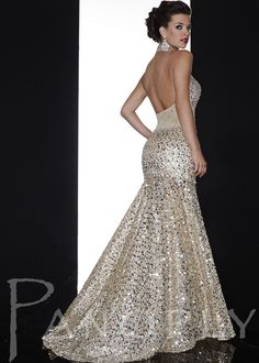 Gorgeous Beaded High Neck Prom Dress - Evening Gown - Panoply 14591 - ThePromDresses.com