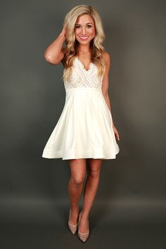 Mimosas-once this comes back in stock, I am ordering it! Perfect reception dress with my cowgirl boots.
