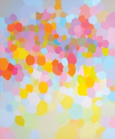 Samia Halaby, Pink Clouds, 183 x cm. Courtesy the artist and Ayyam Gallery. Texture Art, Texture Painting, Painting Prints, Traditional Paintings, Contemporary Paintings, Middle Eastern Art, Chip Art, Generative Art, Pink Clouds