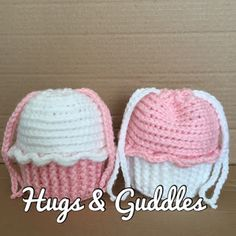 Crochet Drawstring Cupcake Bag - perfect for party favors filled with goodies