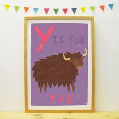 Yak poster/print | Paper Penknife