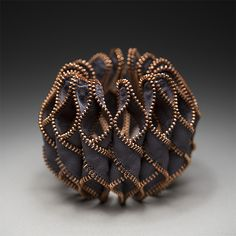 Reverse Octavia Zipper Bracelet by Kate Cusack: Zippered Bracelet available at www.artfulhome.com