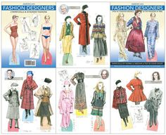 American Fashion Designers - Scratch-n-Dent sale [Scratch-n-Dent sale] : Paper Dolls of Classic Stars, Vintage Fashion and Nostalgic Characters, for Kids and Collectors Image American, American Fashion, Barbie Fashion Sketches, Vintage Paper Dolls, Fashion History, Paper Design, Coloring Books, Vintage Fashion, Fashion Designers