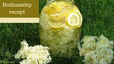 Nagyon finom szörp készíthető a bodza virágjából. Egyszerű recept videó Elderberry Flower, Cordial, Syrup, Food Videos, Easy Meals, Canning, Simple, Flowers, Recipes