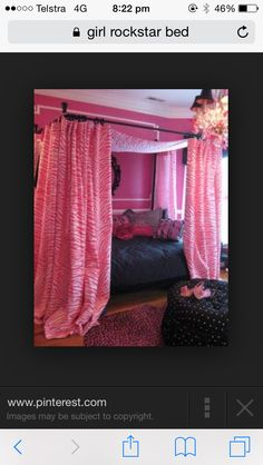 Cool cheap to make pink curtains around bed