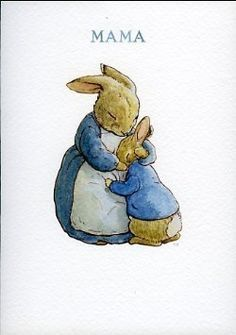 Beatrix Potter Mama Carte de voeux Plus Beatrix Potter Illustrations, Lapin Art, Peter Rabbit And Friends, Peter Rabbit Story, Beatrice Potter, Easter Pictures, Bunny Art, Tatty Teddy, Children's Book Illustration