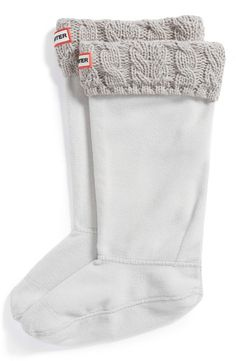 Fancy - Moss Cable Cuff Welly Socks by Hunter