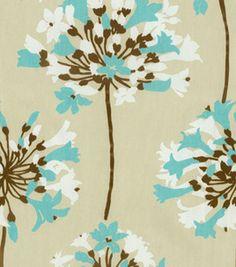 Home Decor Print Fabric- Waverly Sparkler/Aquamarine & home decor print fabric at Joann.com