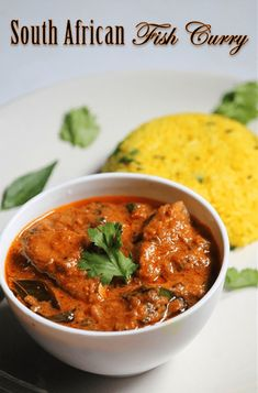 South African Dishes, West African Food, South African Recipes, Indian Food Recipes, Ethnic Recipes, Seafood Curry Recipe, Seafood Recipes, Vegetarian Recipes, Cooking Recipes