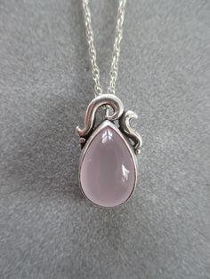 Sterling Silver Rose Quartz Pendant from the Richelle Leigh Collection American Made. See the designer's work at the 2016 American Made Show, Washington DC. January 15-17, 2016. americanmadeshow.com #americanmadeshow, #americanmade, #jewelry, #necklace, #pendant, #rosequartz, #sterlingsilver, #pink