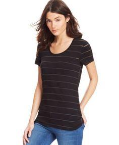 Calvin Klein Jeans Short-Sleeve Striped Top
