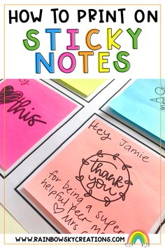 There are so many ways you can use sticky notes at school - and it's actually easier than you think to print the notes! Read our blog about how to and get free templates for printing.