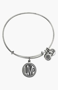 Alex and Ani 'Open Love' Expandable Wire Bangle available at #Nordstrom