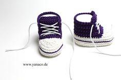 Babyschuhe, Mädchen,lila,Sneaker von Yanaco auf DaWanda.com