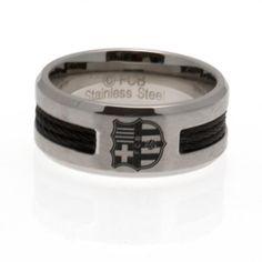 F.C. Barcelona Black Inlay Ring Medium