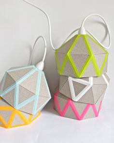 washi tape lamps