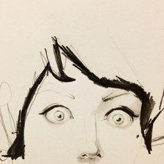 Booooo! #pencil #sketch #face #feierabend