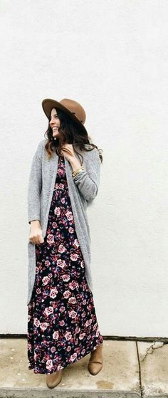 Long sweater with maxi