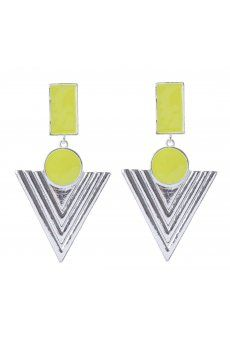 Enamel and Triangle Drop Earrings from Colette Hayman R79,50