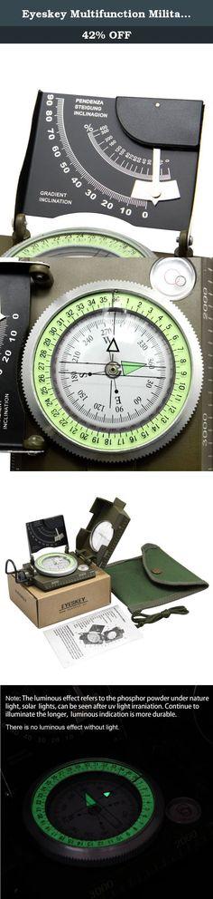 Premium Military Compass w//Lanyard Set Metal Case Clinometer Camping Hiking Army