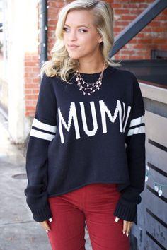 385ee39b49515 Show Me Your MuMu Cropped Varsity Sweater ~ MuMu Stripe Black
