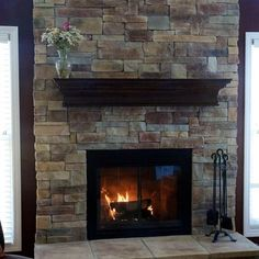 I want my fireplace like this with the T.V. mounted above the mantel