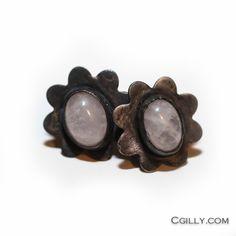 cgilly — Earrings - Sterling Silver Rose Quartz