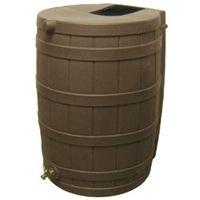 50-Gallon Rain Wizard Rain Barrel in Oak @ bestrainwatercollectionsystems.com