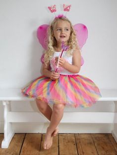 The Fairy Princess Dress Up Sets - Fancy Dress Sets - Fairy Tutu, Fairy Wings, Fairy Wand and Deely Boppers. VARIOUS COLOURS. One Size. Pink Fairy, White Fairy many more colours. Fancy Dress Costume. Halloween. Book Week. Fairy Costume. UK Seller     Order now!