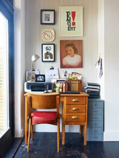 Compact Worke With Vintage Desk Chair From Nz House Garden Hg09 Lookbook 13