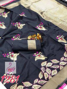 This item is unavailable Tussar Silk Saree, Soft Silk Sarees, Black Saree, Fancy Sarees, Types Of Dresses, Beautiful Saree, Indian Designer Wear, Indian Sarees, Blouse Designs