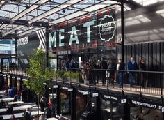 Image 1 of 14 from gallery of Boxpark Croydon / BDP. Photograph by Nick Caville Shopping Mall Architecture, Retail Architecture, Container Architecture, Container House Plans, Container House Design, Container Homes, Box Park, Urban Park, Outdoor Restaurant