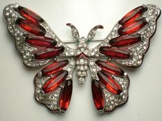 Trifari enamel and rhinestone butterfly brooch, another Hotjools listing on…